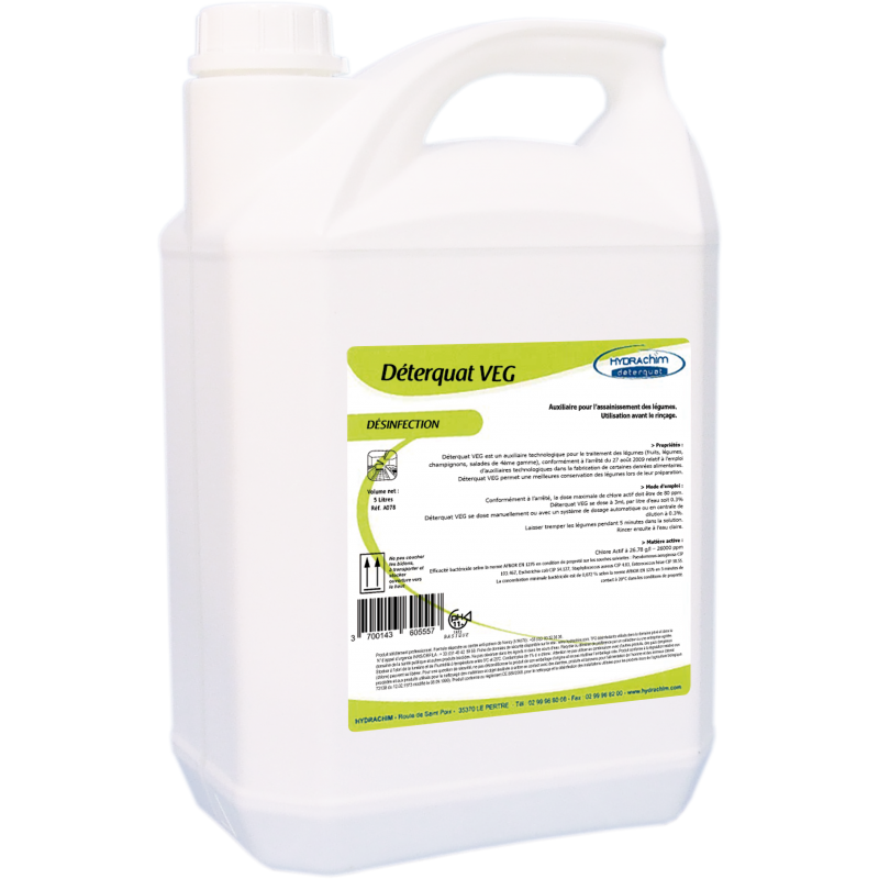 Désinfectant légume - Déterquat VEG - bidon 5L