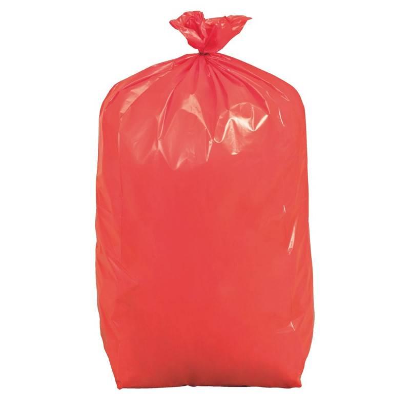 Sac poubelle 110 L rouge - Carton de 200