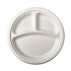 Assiette 3 compartiments 100%Biodégradable