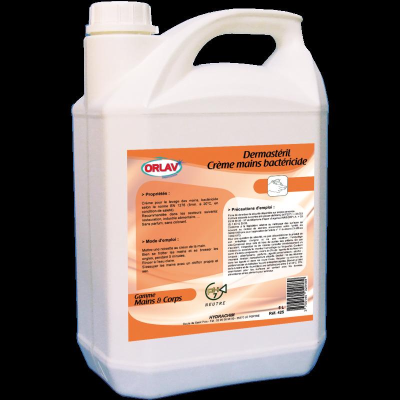 Savon crème mains bactéricide — Bidon 5 L