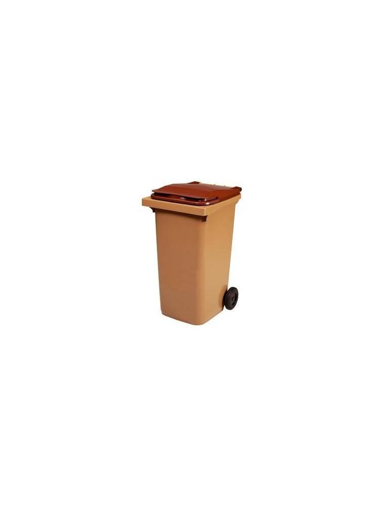 Conteneur beige / marron - 120 L