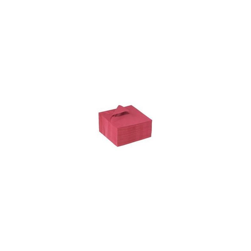 Serviette de table bordeaux 2P 30x30 cm - Carton de 320