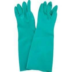 Gant nitrile vert manche longue Taille 8 - La paire