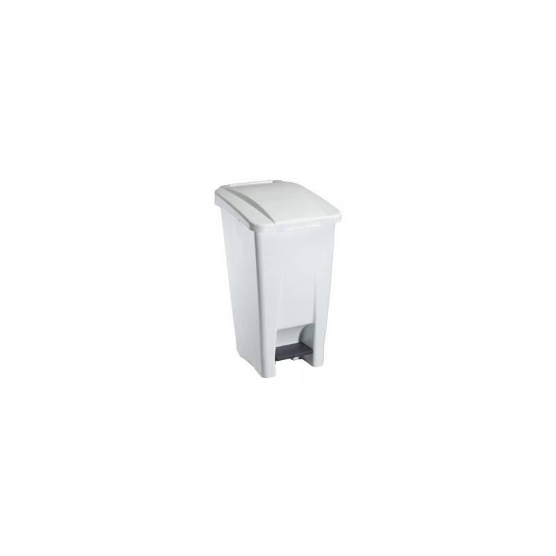 Poubelle mobile HACCP plastique blanche - 120 L