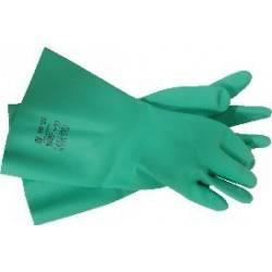 Gant nitrile vert manche courte Taille 7 - La paire