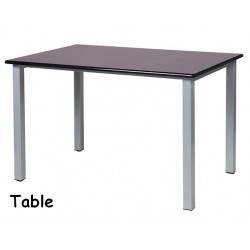 Table en epoxy avec plateau en mélaminé 60x80