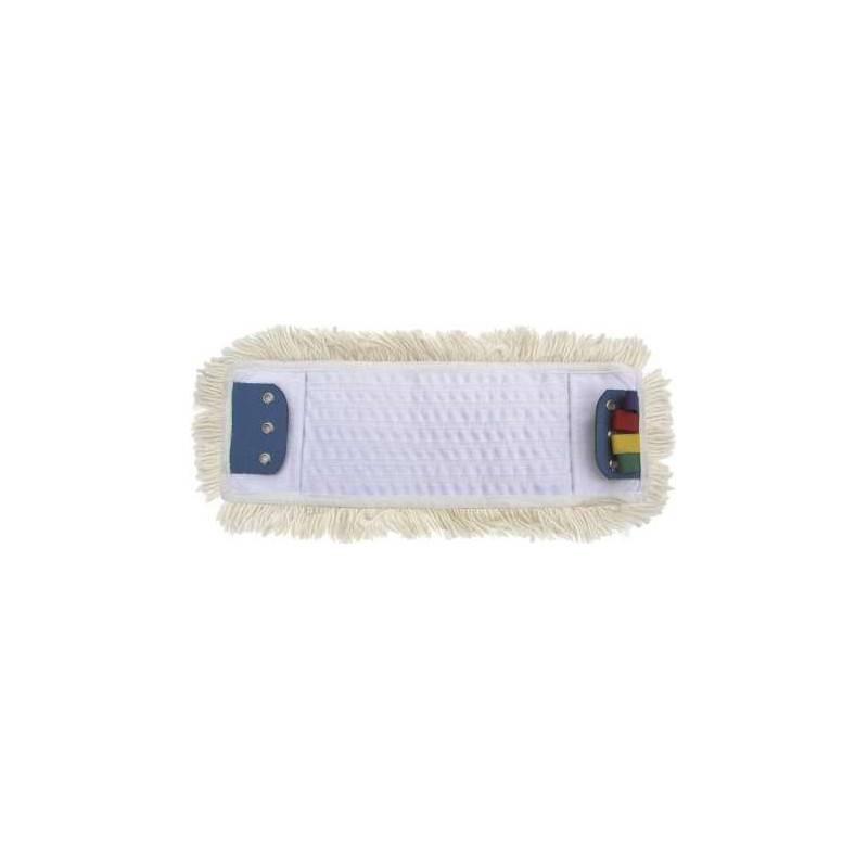 Frange à languettes et poche polycoton 40 cm