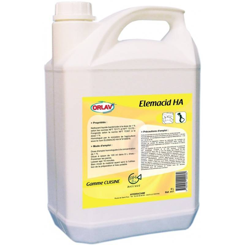 Détergent désinfectant Elemacid - bidon 5L