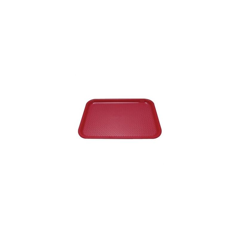 plateau self rouge - 35 x 27 cm
